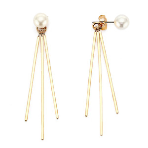 [밀튼아티카]like a natural pearl drop Stick bar Earrings
