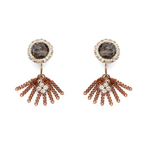 [밀튼아티카]Queen of the palace antique Gold chain Earrings