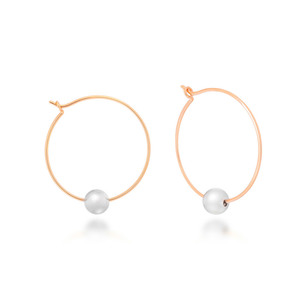 [밀튼아티카]Round & Ball Separate Silver Earrings[925silver]