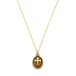 [밀튼아티카]like a natural Noble Cross Silver Necklace[925silver]